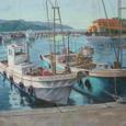 午後の漁港 (F50号)