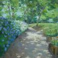 紫陽花の咲く小道 (F8号)