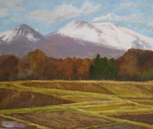 浅間山雪景 (F8号)
