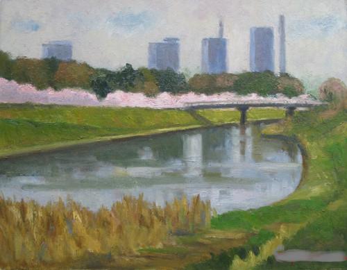 見沼の春 (F6号)