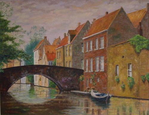 運河の橋 (F50号)