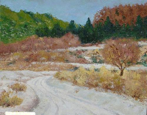 雪の道 (F8号)